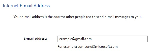 Enter your Gmail e-mail address