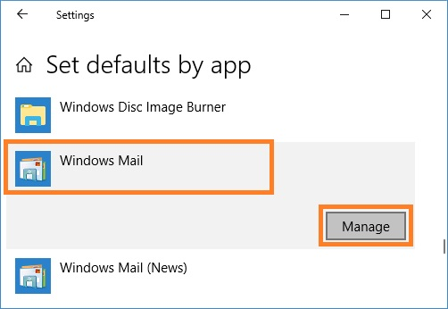 Select Windows Mail